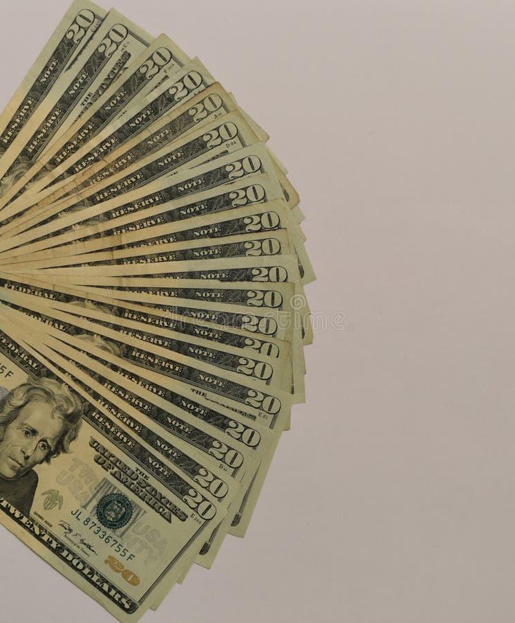 Dollari di U.S.A. di valore 20 fotografia stock libera da diritti