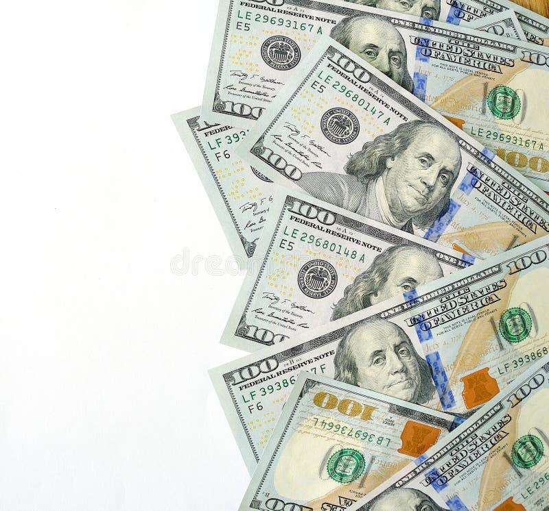 Dollari di valuta isolata, posto per il vostro testo fotografia stock libera da diritti