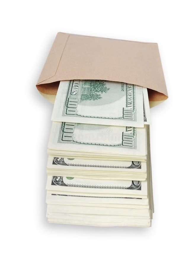 Dollari nel sacchetto. fotografie stock libere da diritti