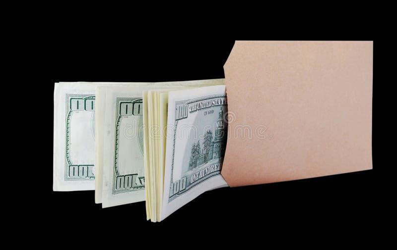 Dollari nel sacchetto marrone. fotografie stock