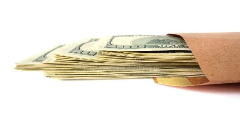 Dollari in un pacchetto. immagine stock