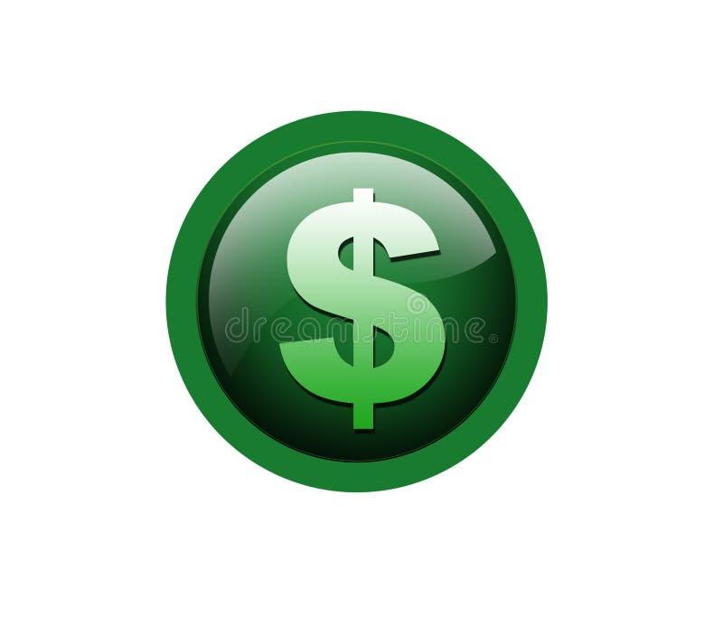 Dollarikone lizenzfreie abbildung