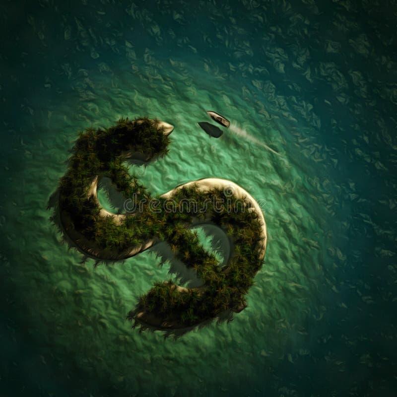 Dollarinsel vektor abbildung