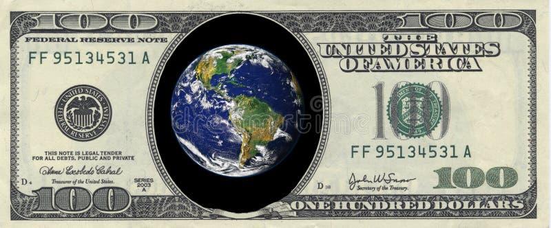 dollarjord hundra insida arkivfoton