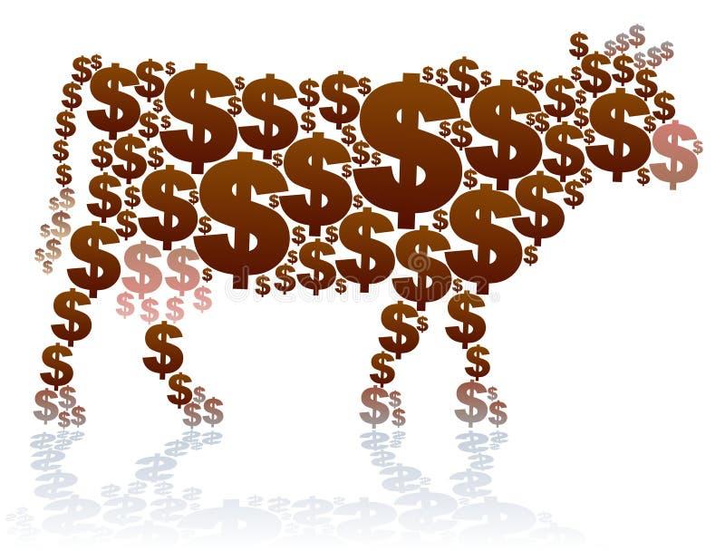 Dollarkoe stock illustratie