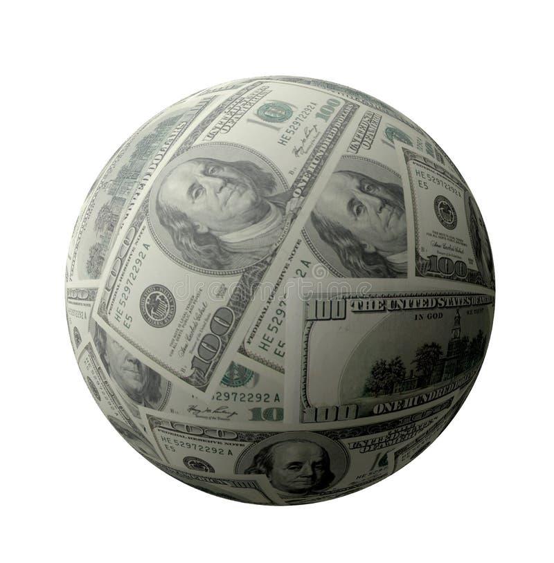 Dollarkugel lizenzfreie stockbilder