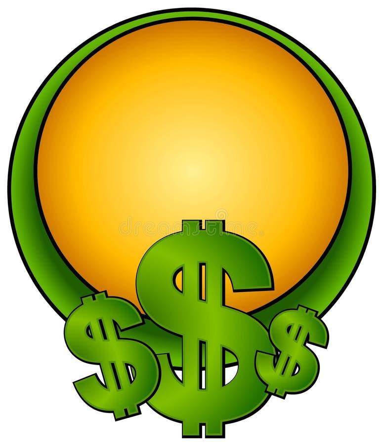 dollarlogosidan undertecknar rengöringsduk royaltyfri illustrationer