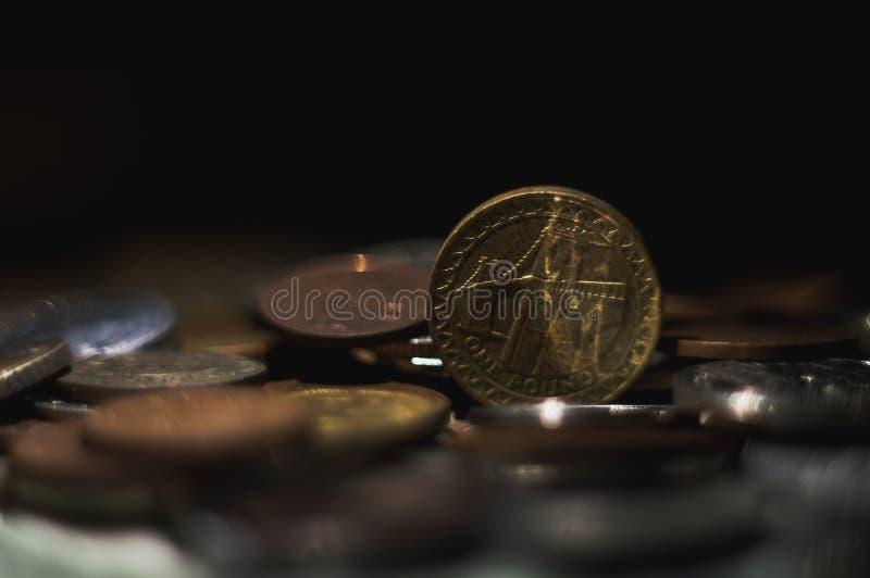 Dollarmaterielmynt arkivfoton
