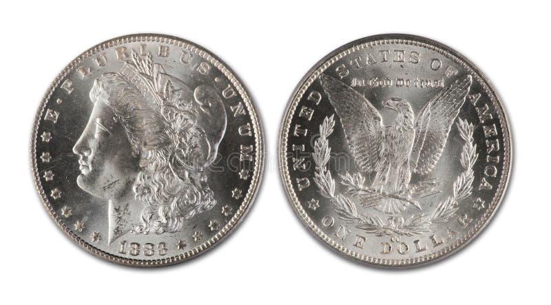 dollarmorgan silver royaltyfri bild