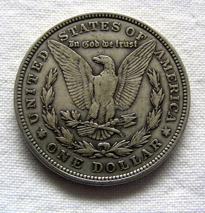 dollarmorgan silver arkivbilder