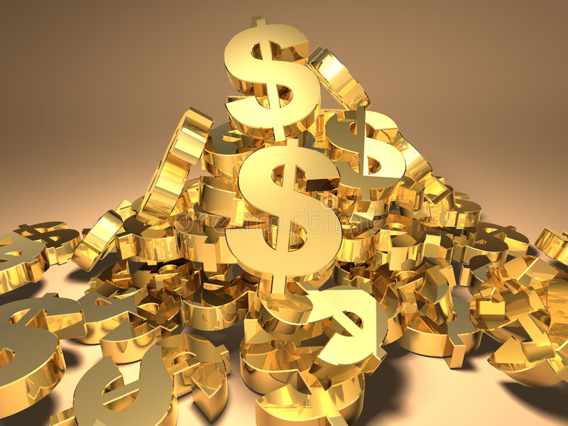 Dollaro illustrazione vettoriale