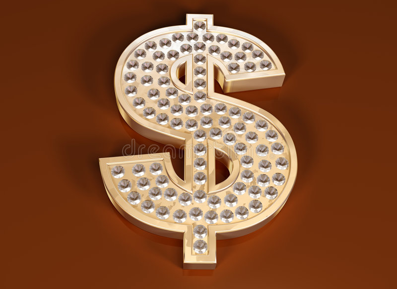 Dollaro che bling royalty illustrazione gratis