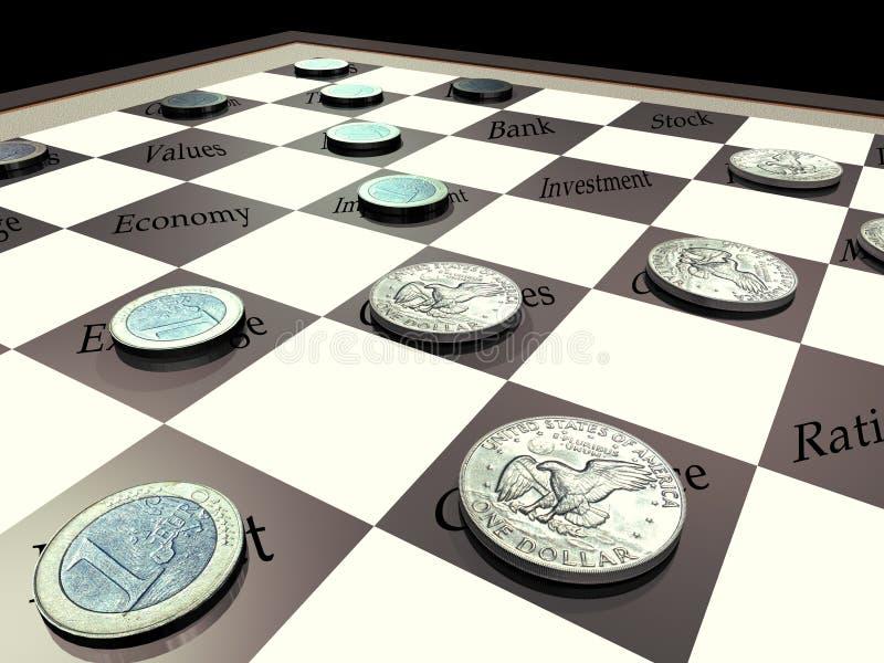 Dollaro contro l'euro royalty illustrazione gratis