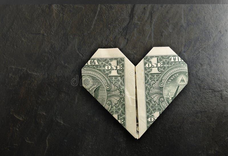Dollaro del cuore fotografia stock