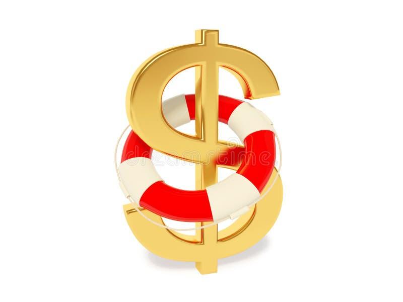 Dollaro del segno illustrazione vettoriale