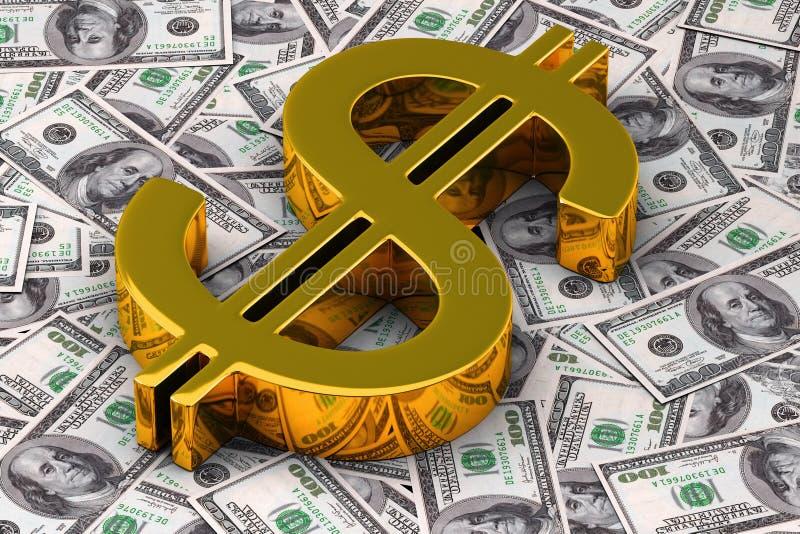 Dollaro dell'oro royalty illustrazione gratis