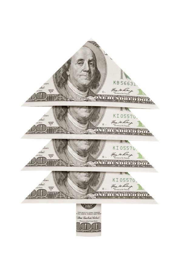Dollaro dell'pelliccia-albero di Natale Prosperità e benessere fotografia stock libera da diritti