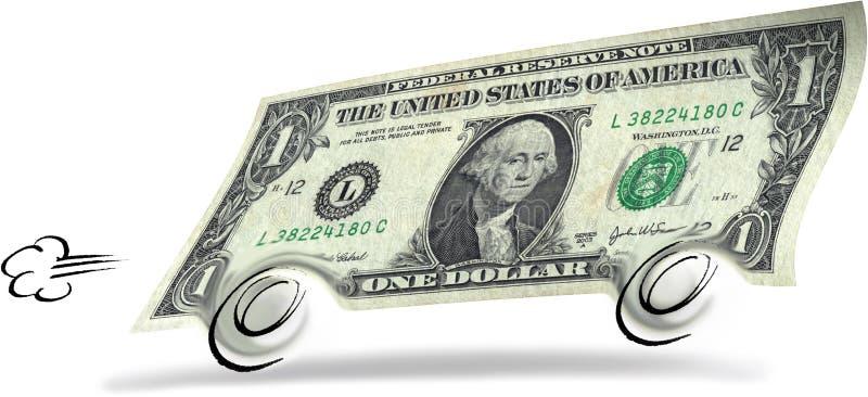 Dollaro di rotolamento illustrazione vettoriale