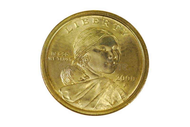 Dollaro di Sacagawea fotografie stock