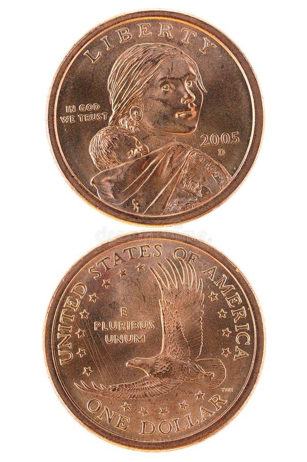 Dollaro di Sacagawea immagini stock