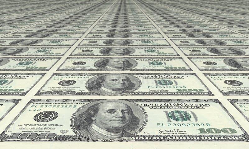 Dollaro, dollaro e dollaro immagini stock