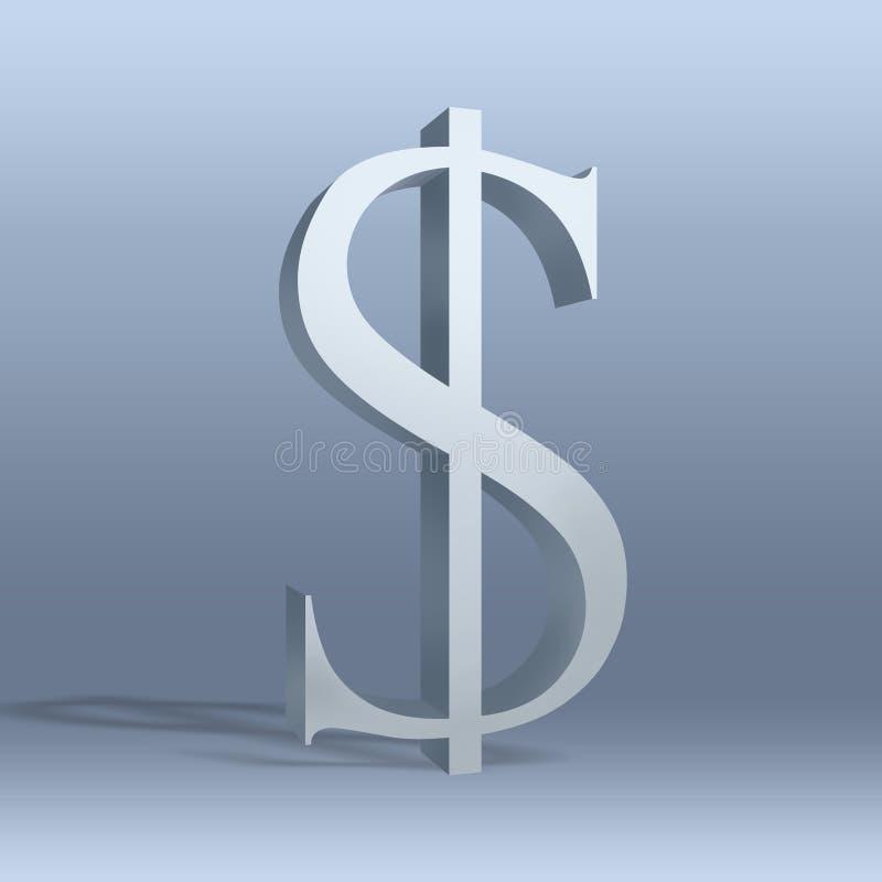 Dollaro, $, valuta, icona illustrazione vettoriale