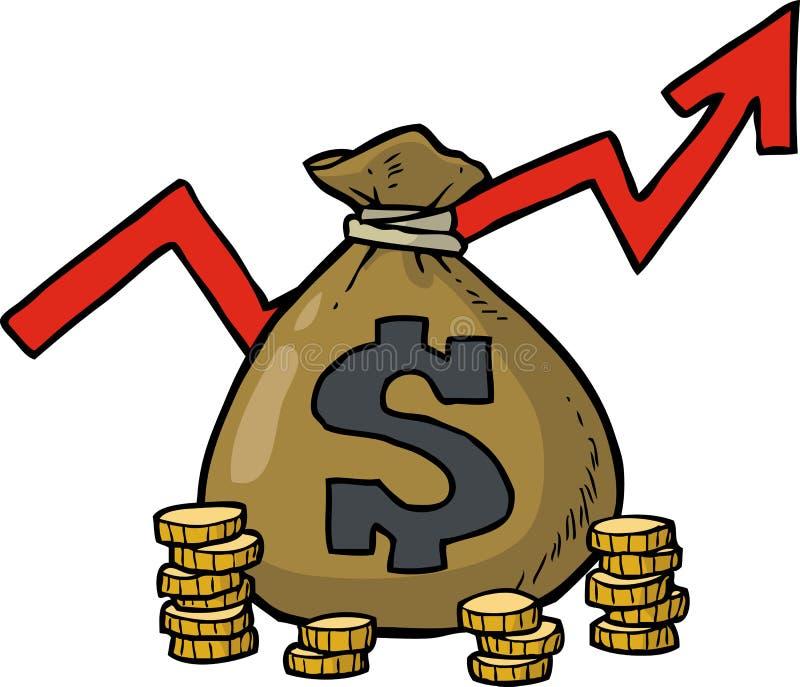 Dollarpåsesymbol stock illustrationer