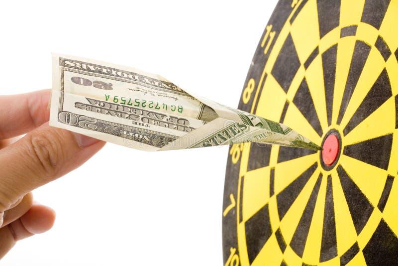 Dollarpapierflugzeug lizenzfreies stockbild