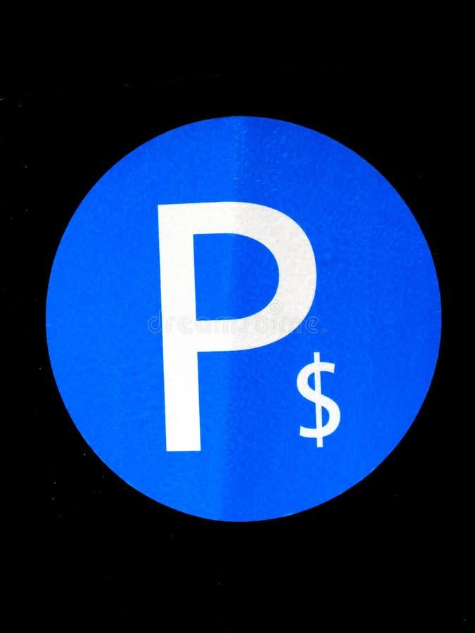 dollarparkeringstecken arkivbilder