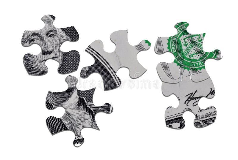 Dollarpuzzlespiel stock abbildung