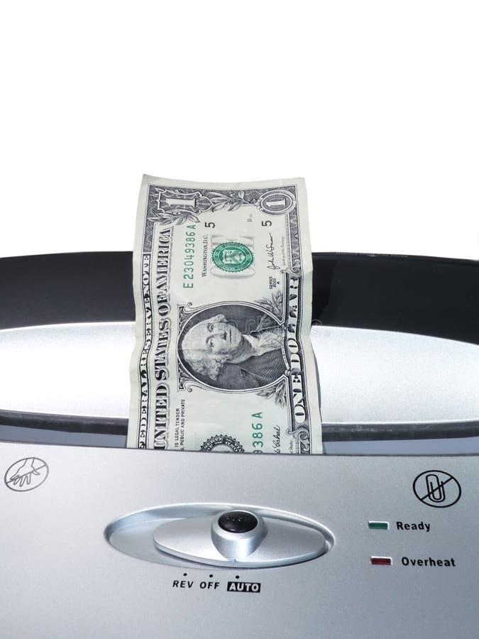 Dollarräkning som strimlar 2