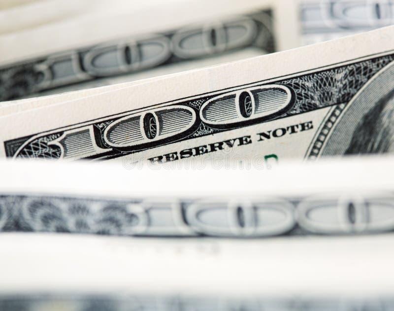 $100 Dollarräkningar Fotografering för Bildbyråer