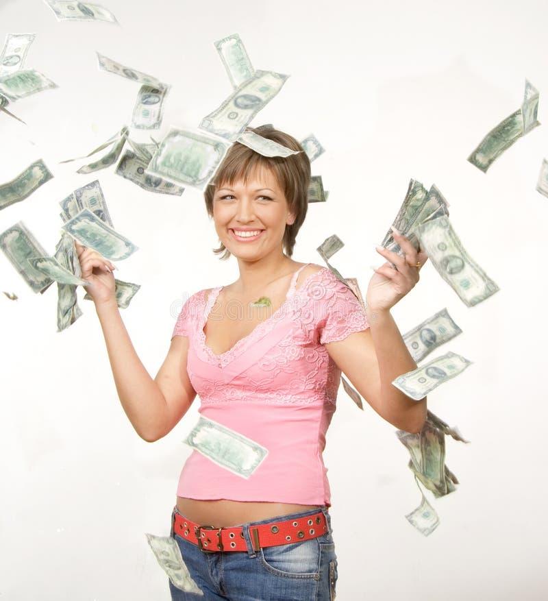 dollarregn s royaltyfri foto