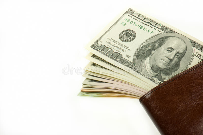Download Dollars stock photo. Image of macro, brown, money, leather - 18503510