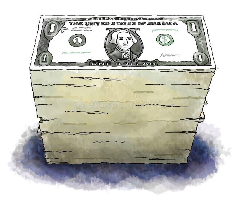 Dollars royalty-vrije illustratie