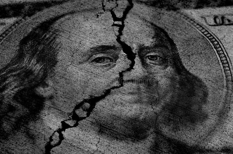 Dollars américains déchirés ou déchirés illustration de vecteur