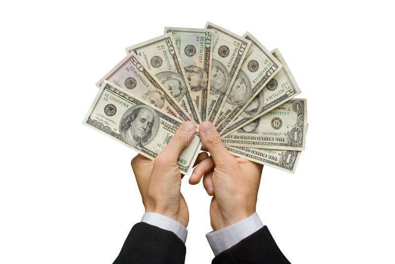dollars américains de mains image libre de droits