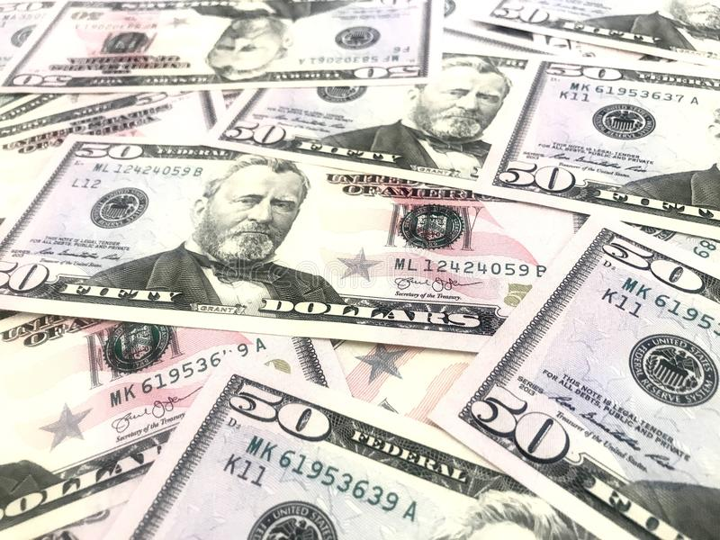 Dollars, argent, argent liquide photographie stock libre de droits