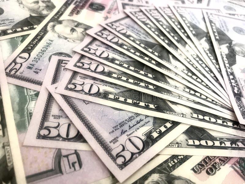 Dollars, argent, argent liquide photo stock