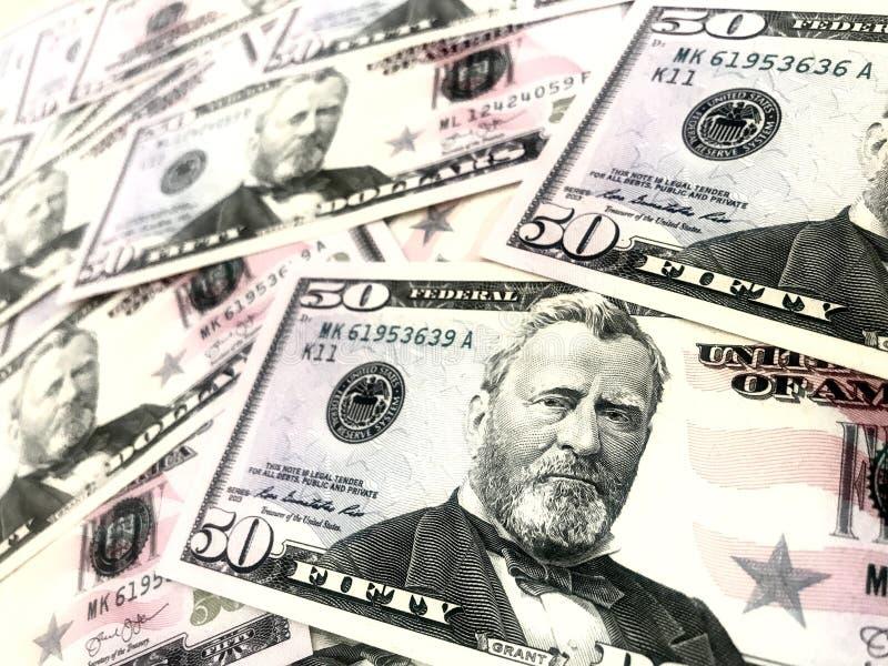 Dollars, argent, argent liquide images stock