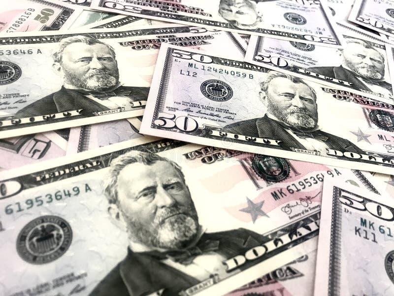 Dollars, argent, argent liquide image libre de droits