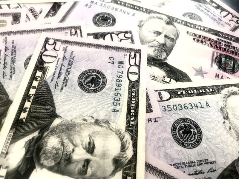 Dollars, argent, argent liquide photo libre de droits