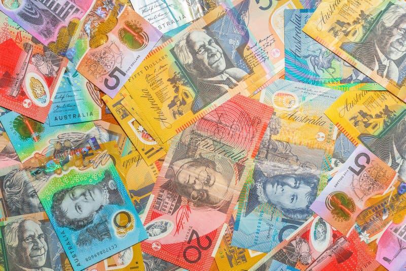 Dollars australiens de fond photos libres de droits