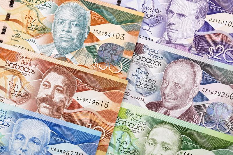 Dollars from Barbados a background. Dollars from Barbados a business background stock image