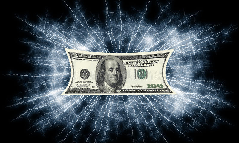 Download Dollars Bill Electrified Money Stock Illustration - Illustration: 17868280