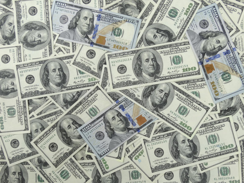 Download 100 Dollars Bills Background - 1 Face Stock Photo - Image: 36676310
