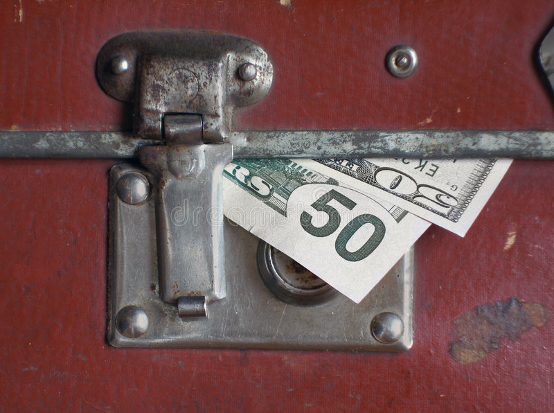 Download Dollars Bills Within Old Case Stock Photo - Image: 1721010