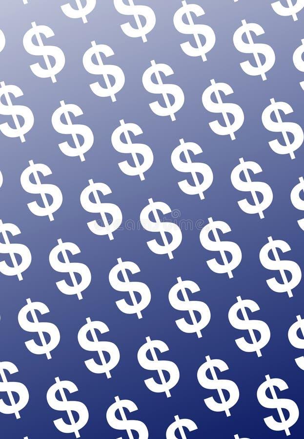 Dollars in blue vector illustration