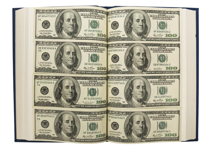 Download Dollars in book stock photo. Image of group, income, greenbacks - 21488334