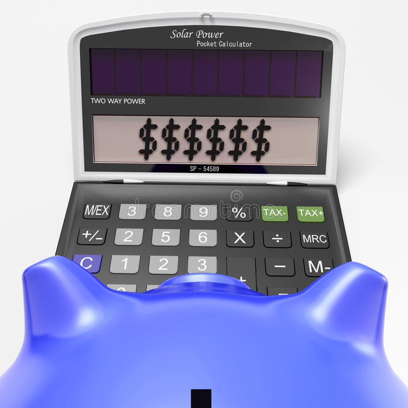 Dollars In Calculator Shows Wealth And Security